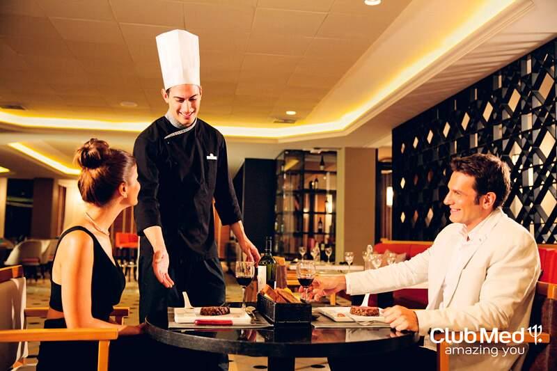 Considerado como um dos melhores atendimentos na gastronomia voltada para resort